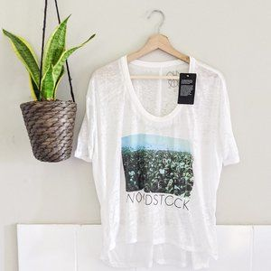 NEW Chaser Woodstock White Burnout Graphic Tee